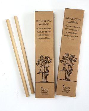 Onze Bamboe rietjes zijn duurzaam, 100% natuurlijk, herbruikbaar en milieuvriendelijk.
